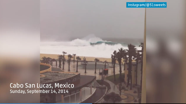 Hurricane Odile, Los Cabos, Sept 14, 2014; photo from weather.com