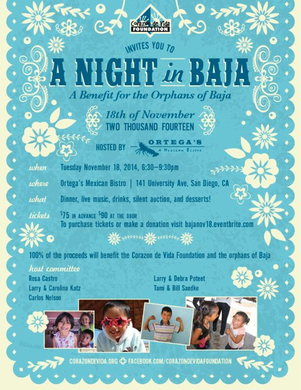 A Night in Baja for the Kids - Corazon de Vida