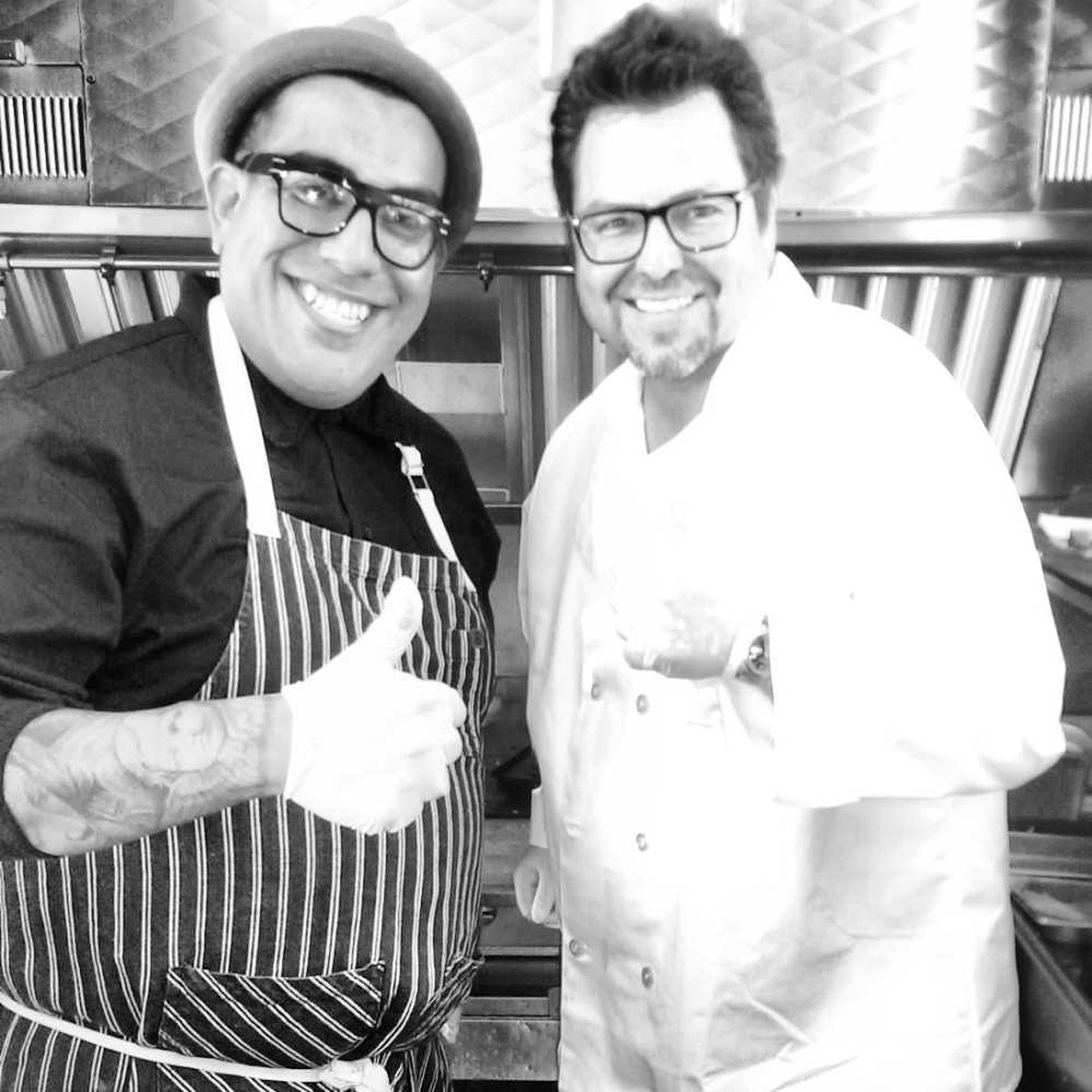 Celebrity Chef and Food stylist Aaron J. Perez and Host Rick Najera